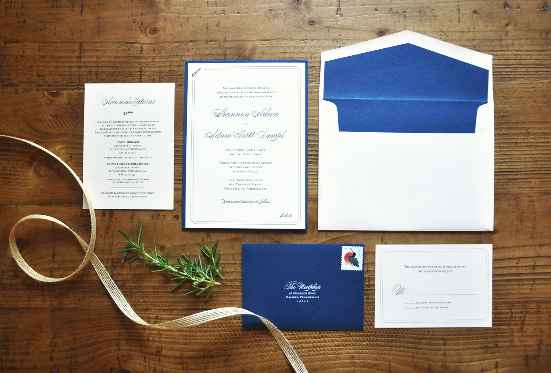 Amanda DiMinico Design - Formal Invitation Suite